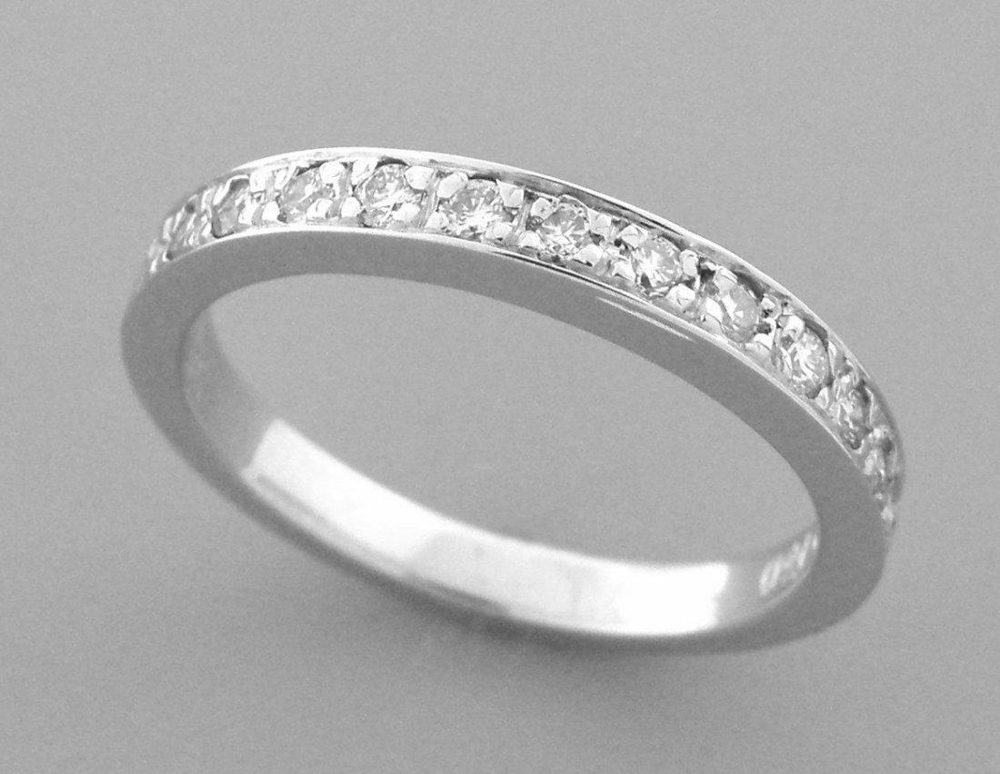 14K WHITE GOLD LADIES DIAMOND RING 0.28CT DIAMOND BAND