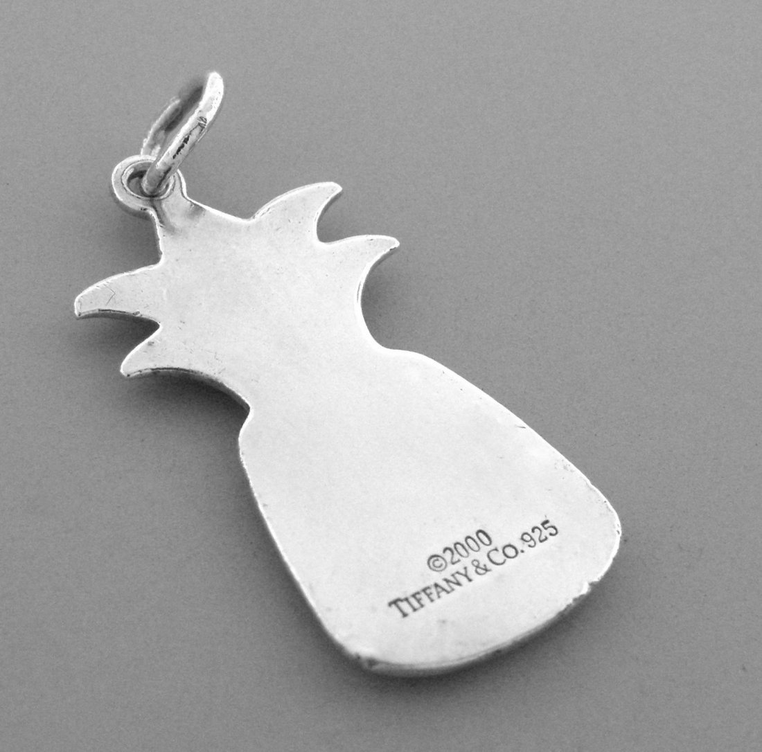 TIFFANY & Co. STERLING SILVER PINEAPPLE CHARM PENDANT - 2