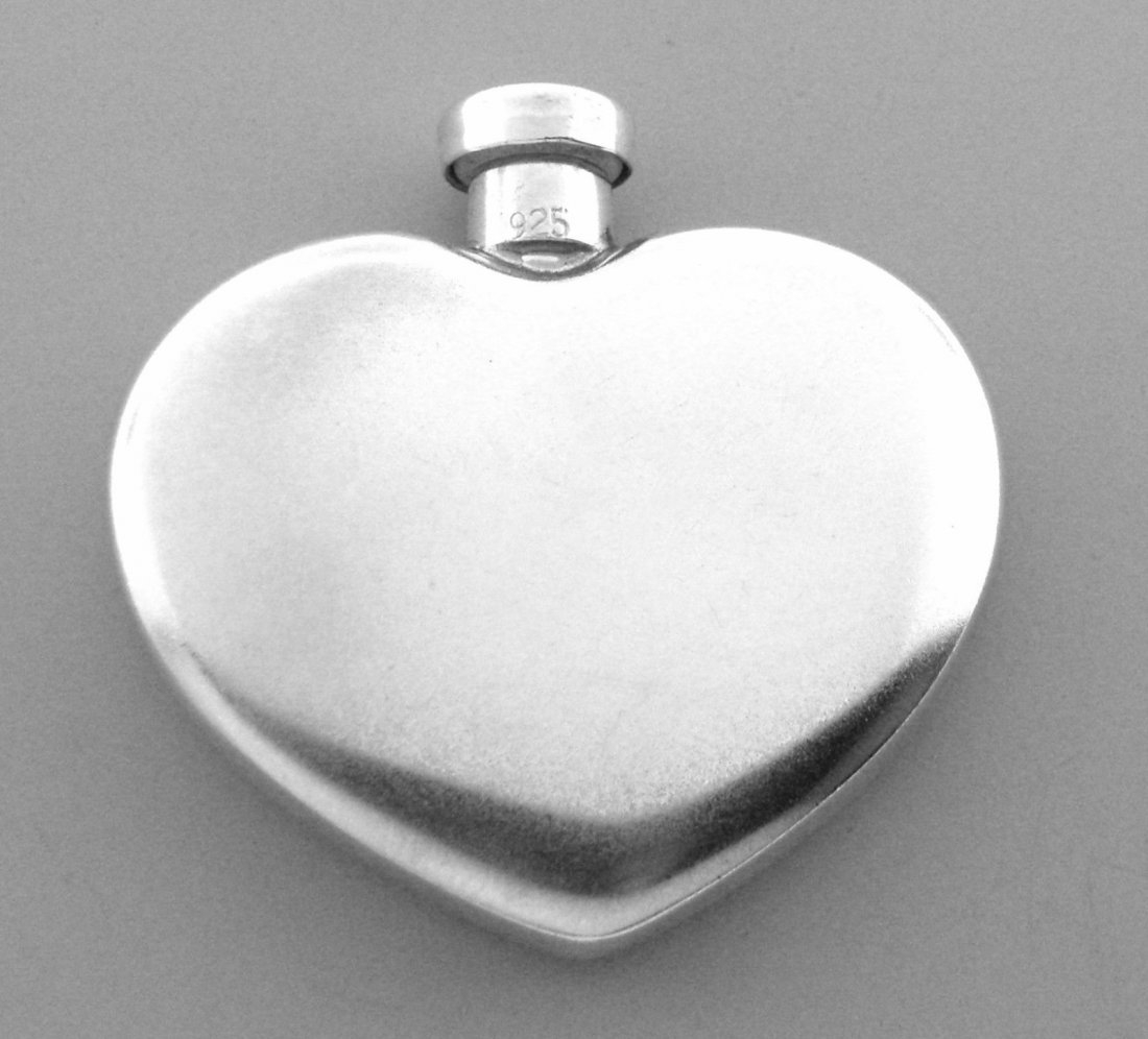 VINTAGE TIFFANY & Co. STERLING HEART PERFUME BOTTLE