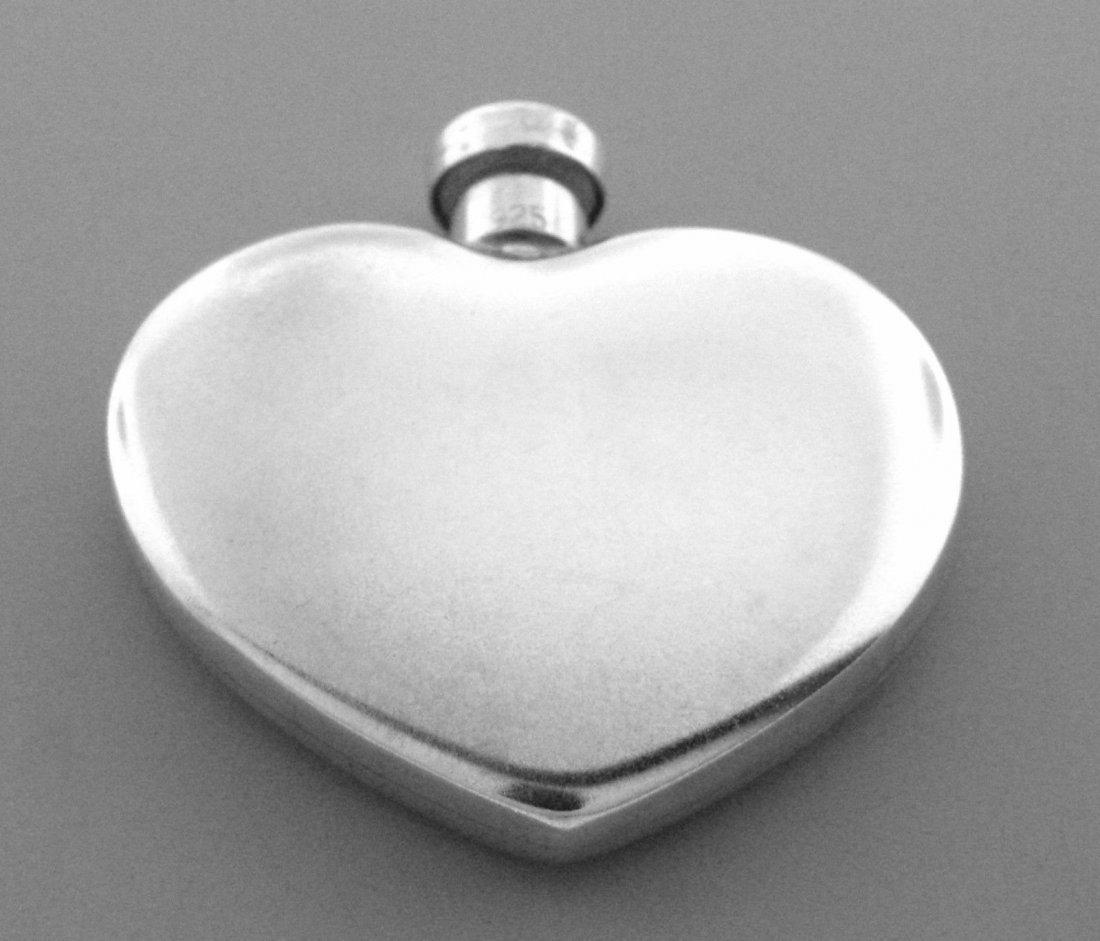 VINTAGE TIFFANY & Co. STERLING HEART PERFUME BOTTLE - 2