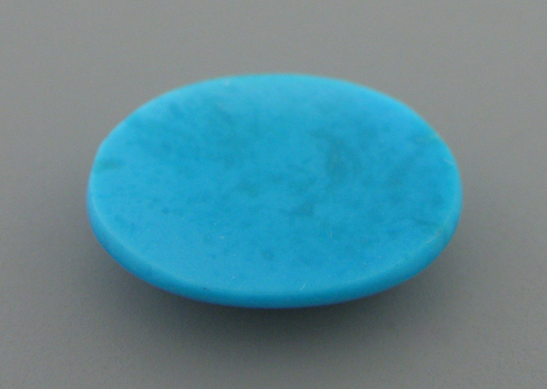 UNTREATED TURQUOISE OVAL CABOCHON 5ct 15X12mm S/ BEAUTY - 2