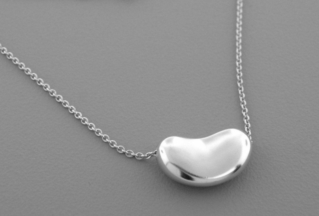 """TIFFANY & Co. STERLING SILVER BEAN CHAIN NECKLACE 20"""""""