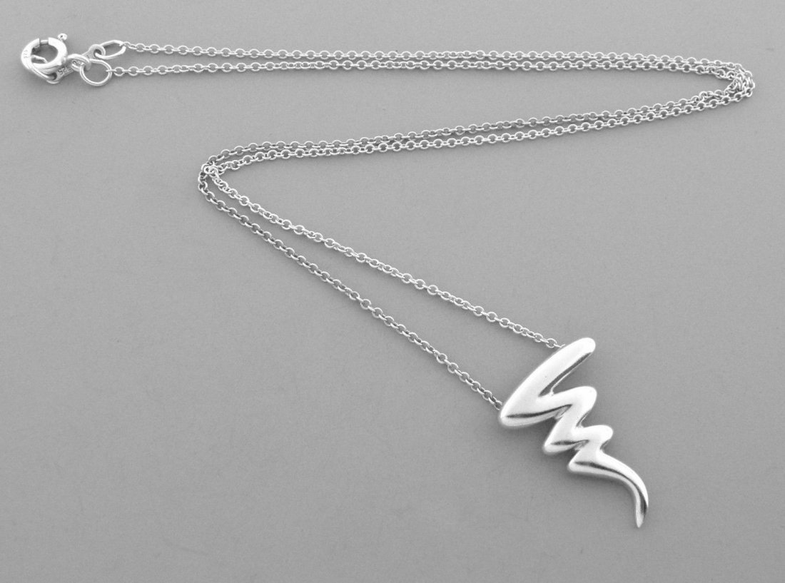 TIFFANY & Co. STERLING SILVER SCRIBBLE NECKLACE PALOMA - 2