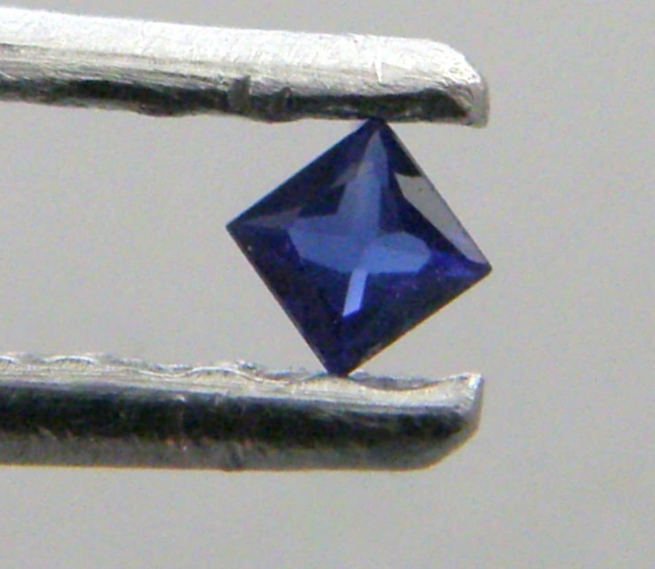 3.4mm PRINCESS CUT LOOSE NATURAL BLUE SAPPHIRE