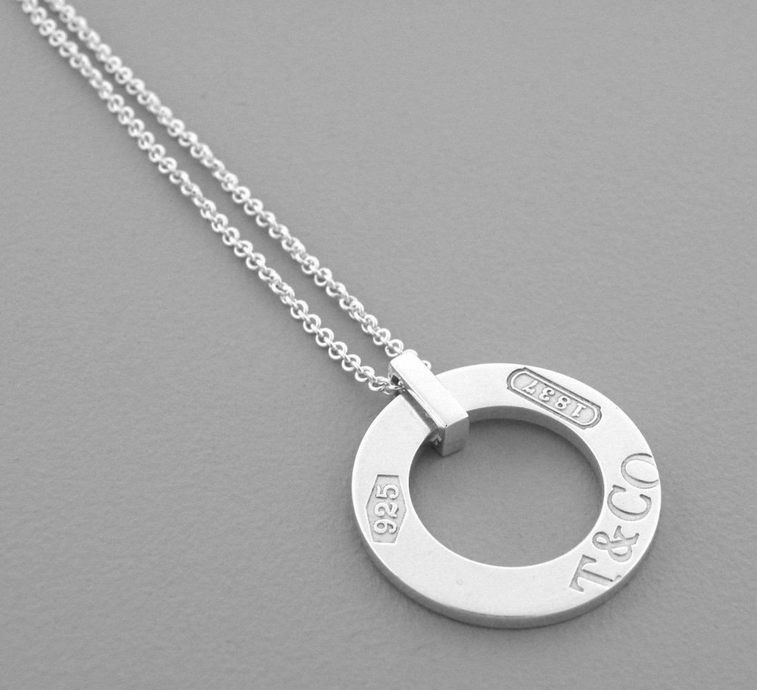 TIFFANY & Co. STERLING SILVER 1837 CIRCLE NECKLACE