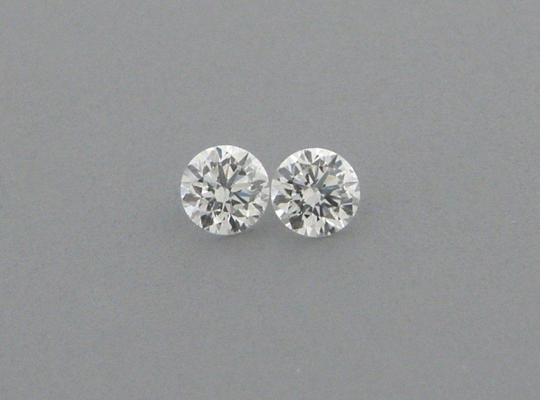 2.6mm MATCHING PAIR BRILLIANT ROUND CUT DIAMOND G VS2