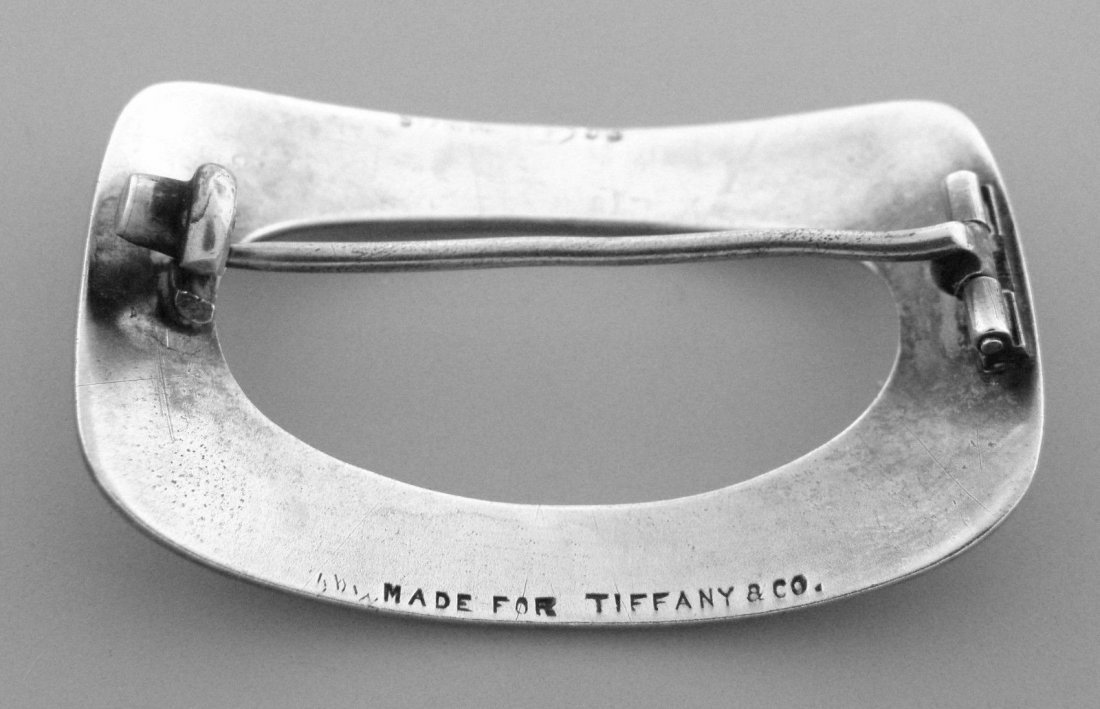 VINTAGE TIFFANY & Co. STERLING SILVER BROOCH PIN - 2