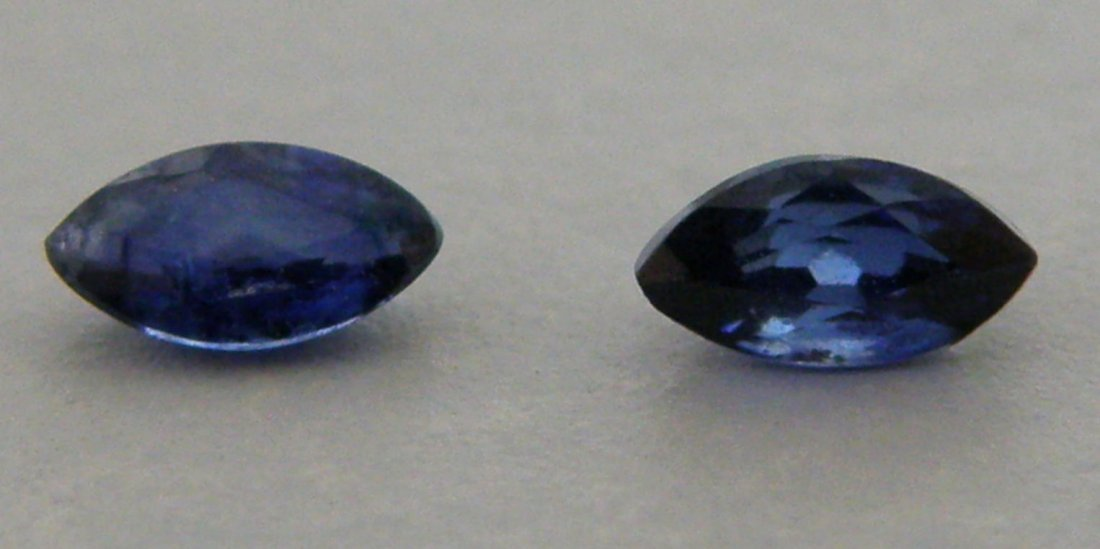 6x3mm MATCHING PAIR MARQUISE UNTREATED BLUE SAPPHIRE