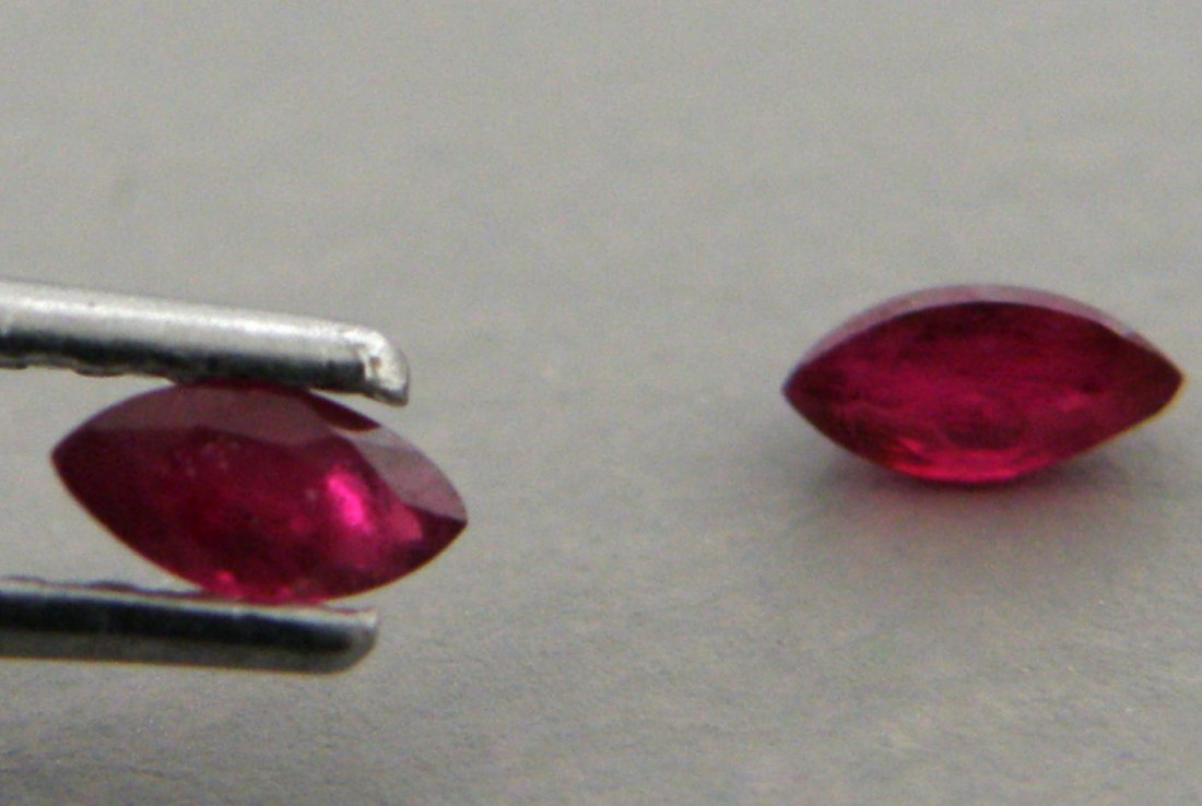 6x3mm MATCHING PAIR MARQUISE NATURAL PIGEON BLOOD RUBY