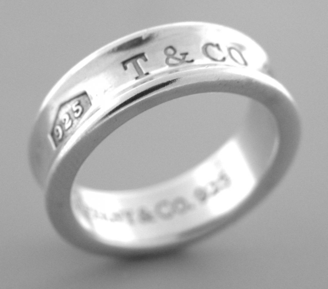 TIFFANY & Co. STERLING SILVER 1837 RING WEDDING BAND