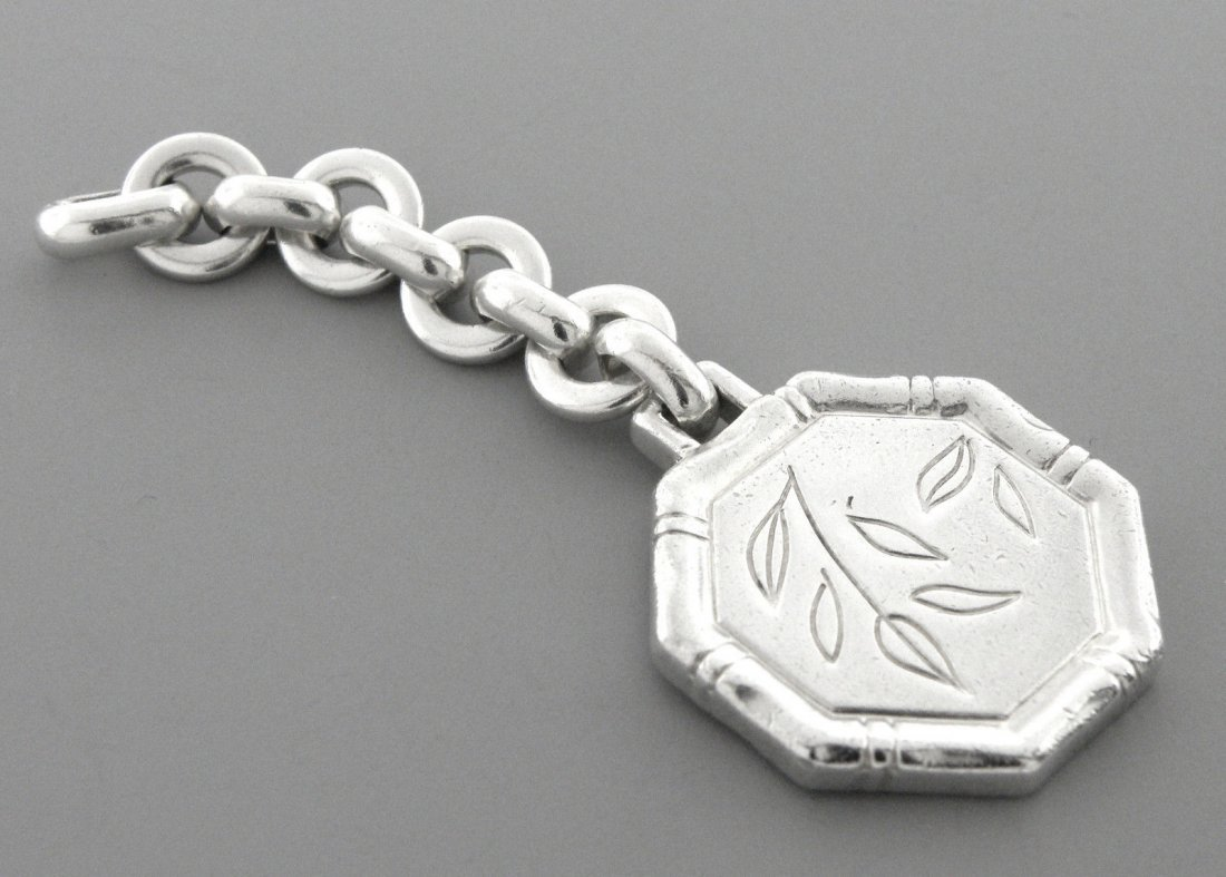TIFFANY & Co. STERLING SILVER BAMBOO FLOWER KEYRING