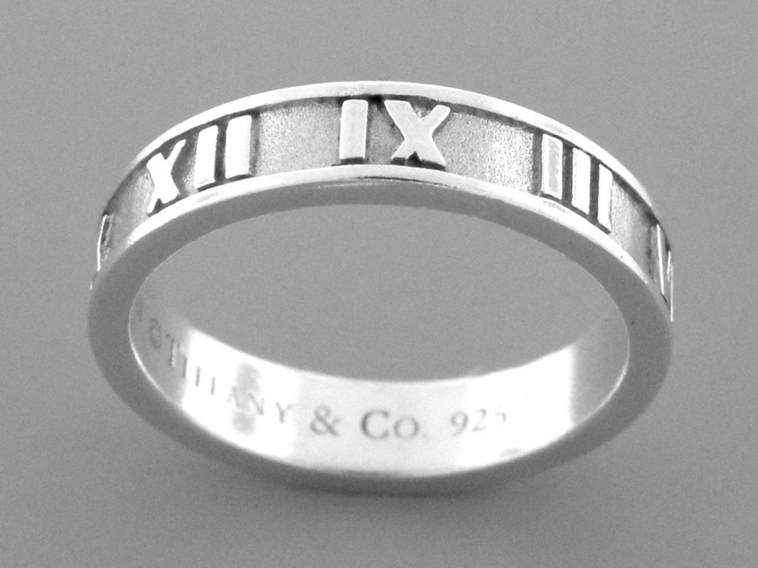 TIFFANY & Co. STERLING SILVER ATLAS BAND RING 5.5