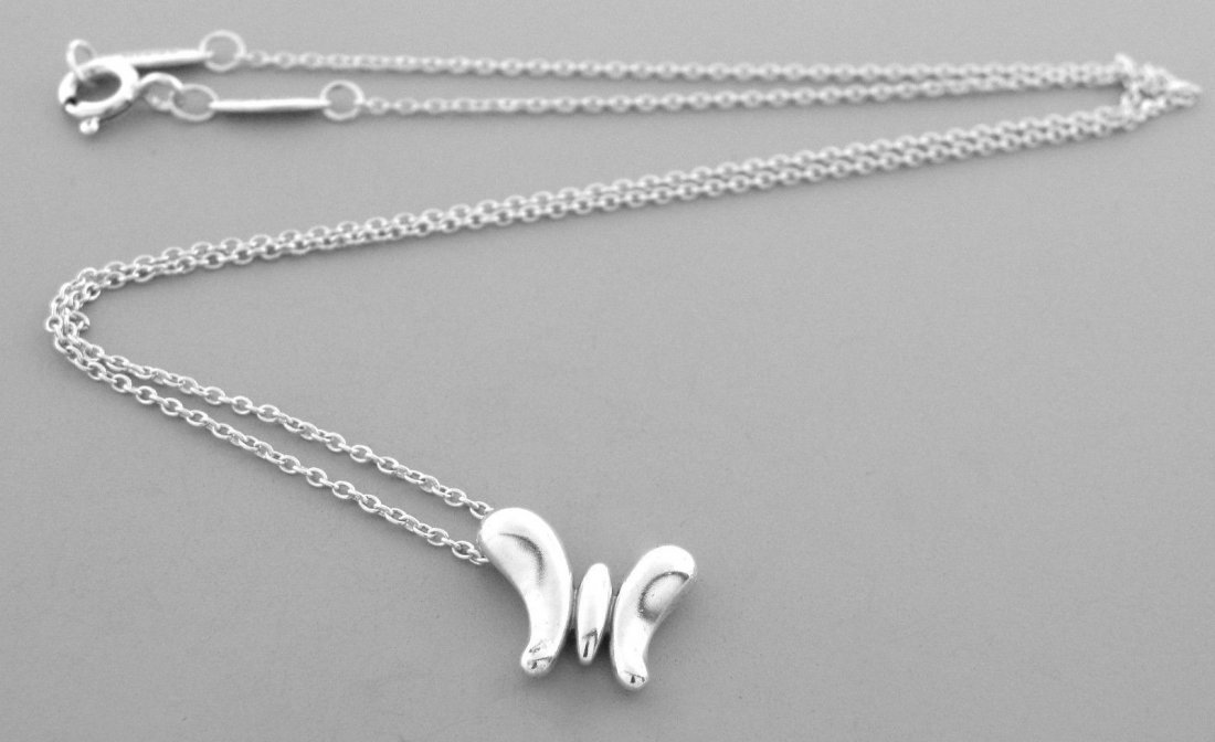 TIFFANY & Co. STERLING SILVER BUTTERFLY NECKLACE