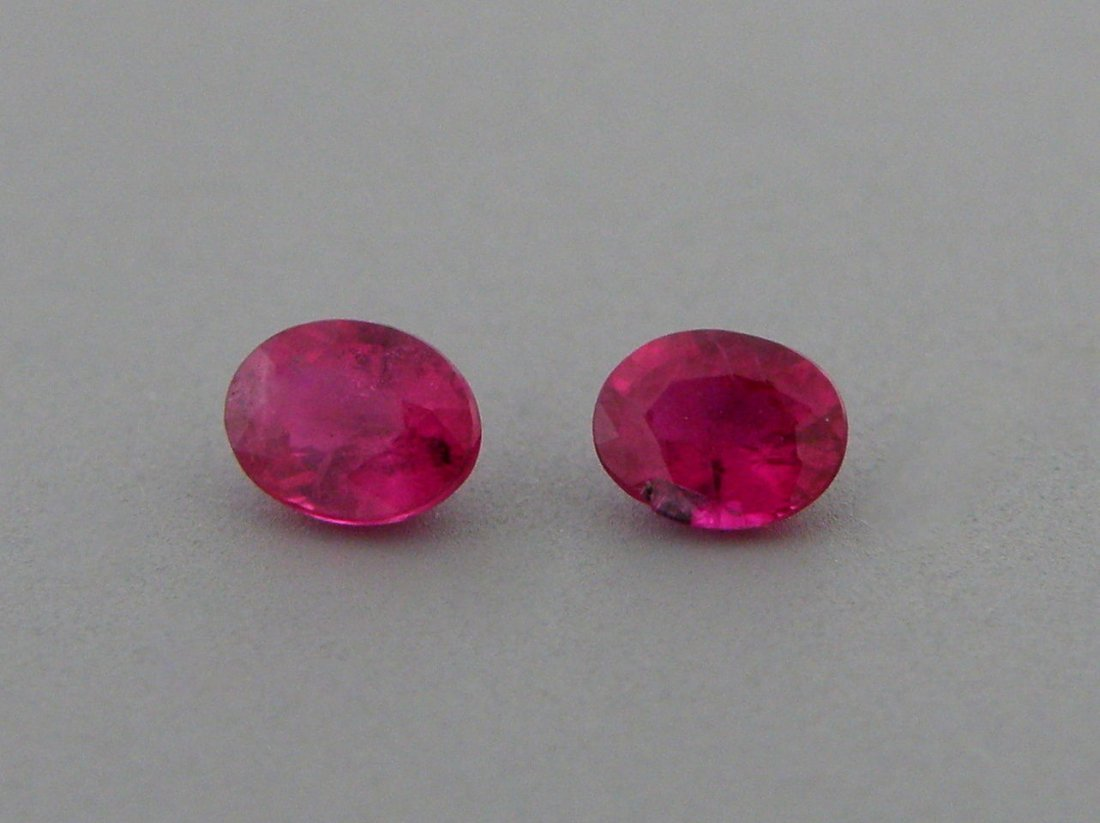 5x3mm OVAL CUT MATCHING PAIR LOOSE NATURAL RUBY