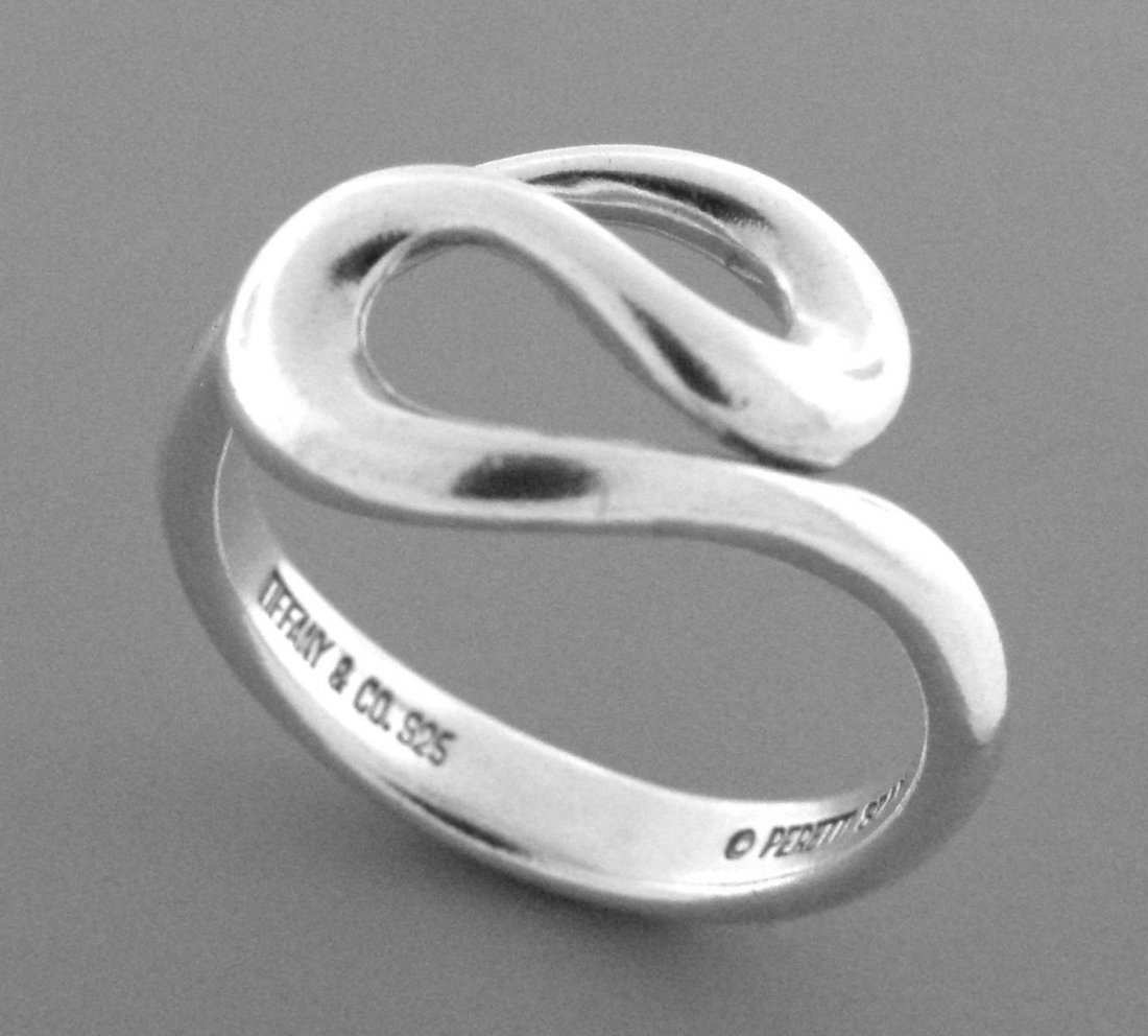 TIFFANY & Co. STERLING SILVER PERETTI WAVE RING