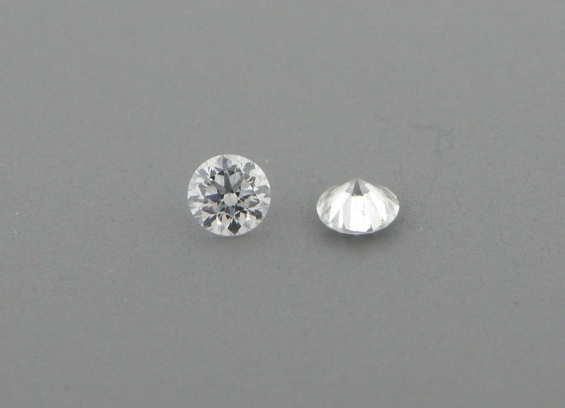 2.2mm MATCHING PAIR ROUND UNTREATED DIAMOND G VS2