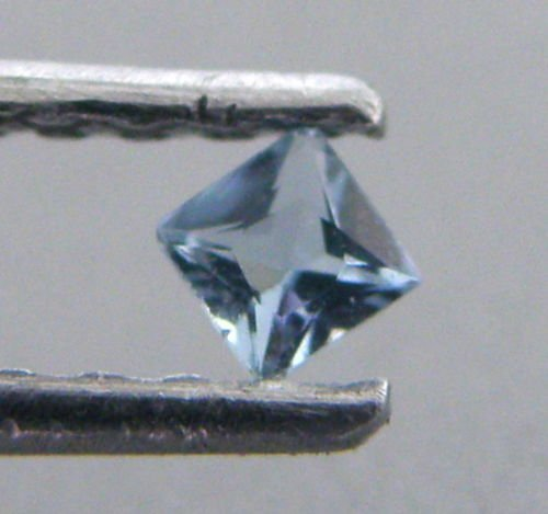 5mm PRINCESS CUT NATURAL UNTREATED BLUE AQUAMARINE