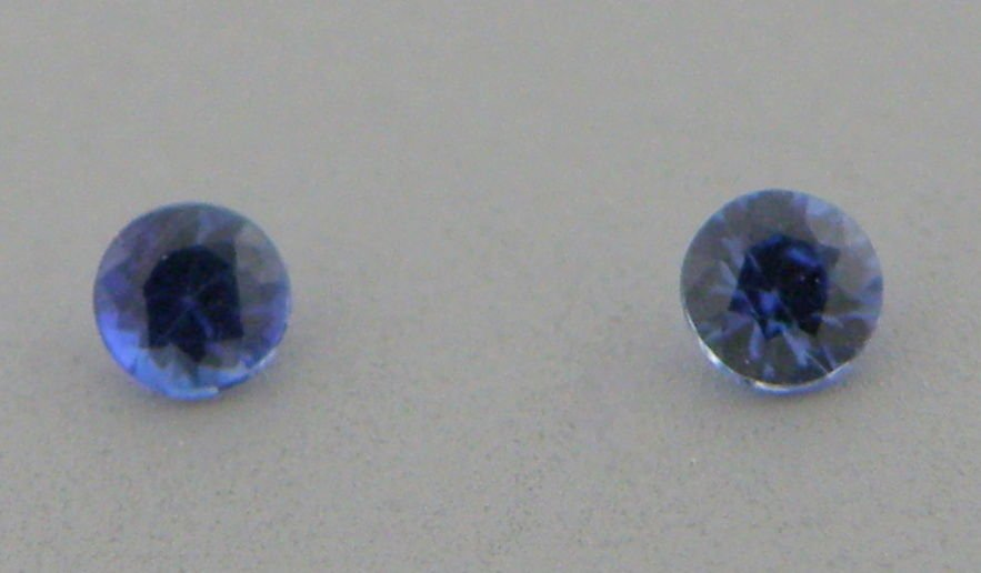 2.5mm MATCHING PAIR ROUND CUT NATURAL BLUE SAPPHIRE