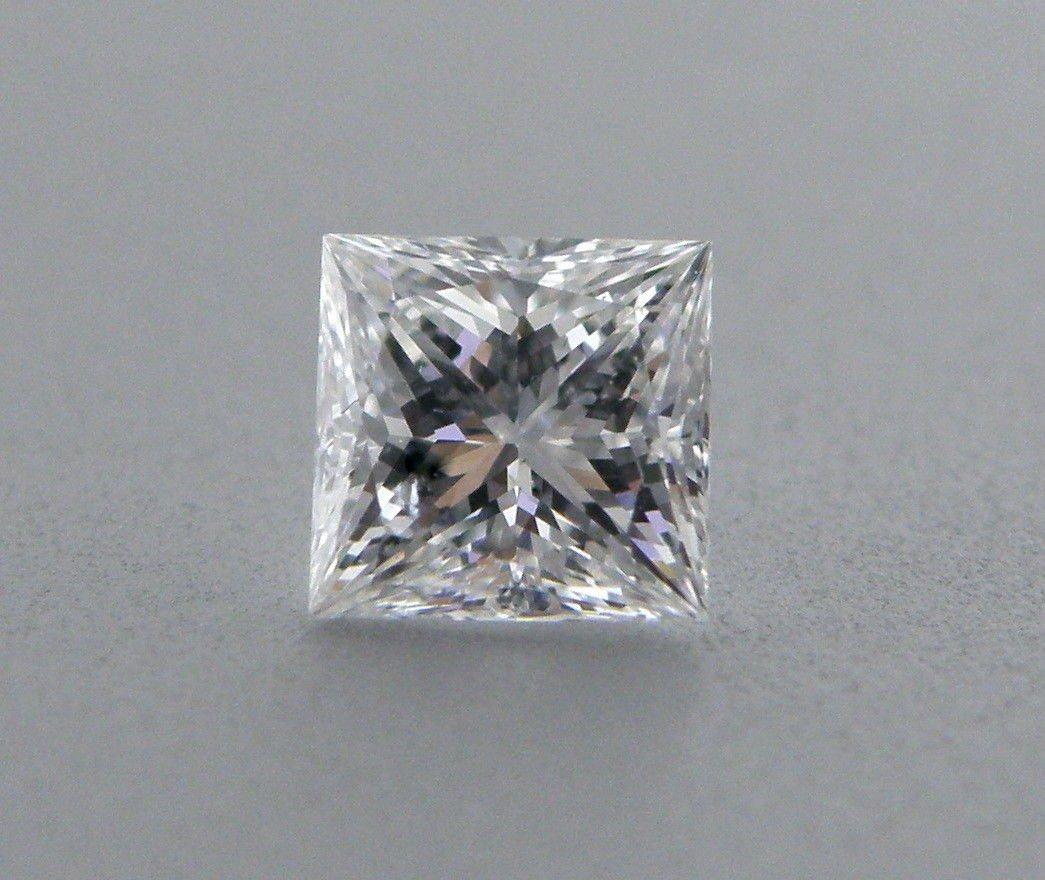 2mm PRINCESS CUT LOOSE NATURAL UNTREATED DIAMOND F VVS1
