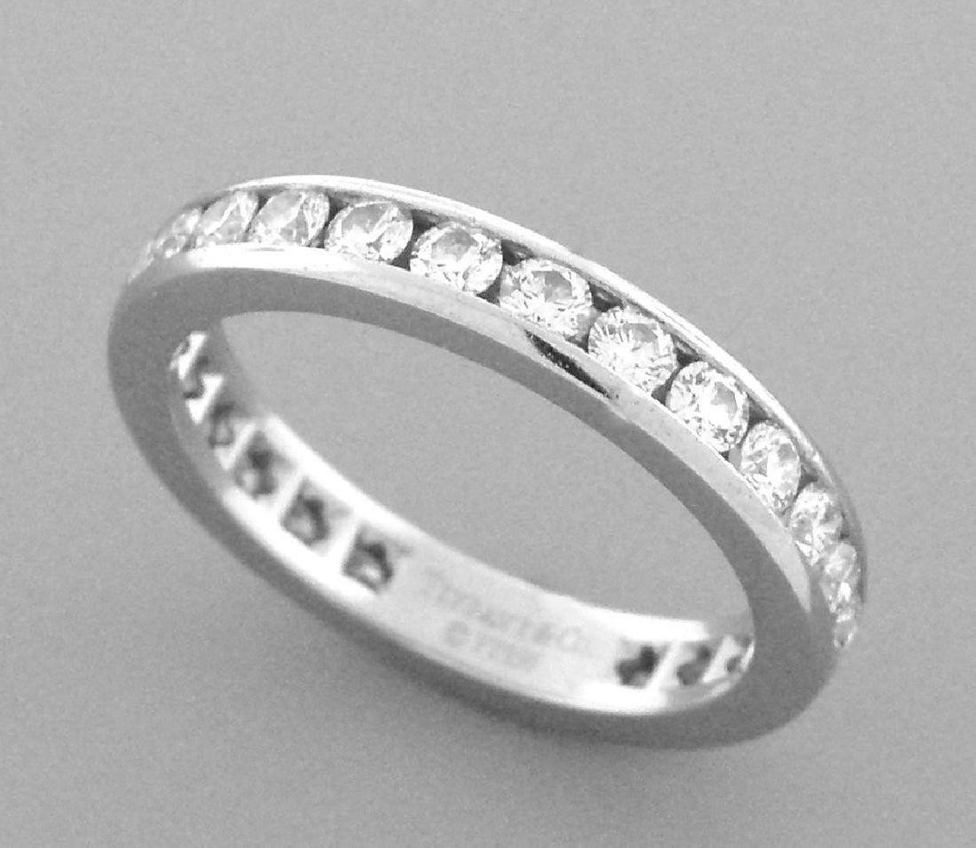 TIFFANY & Co. PLATINUM LADIES DIAMOND ETERNITY RING 3mm