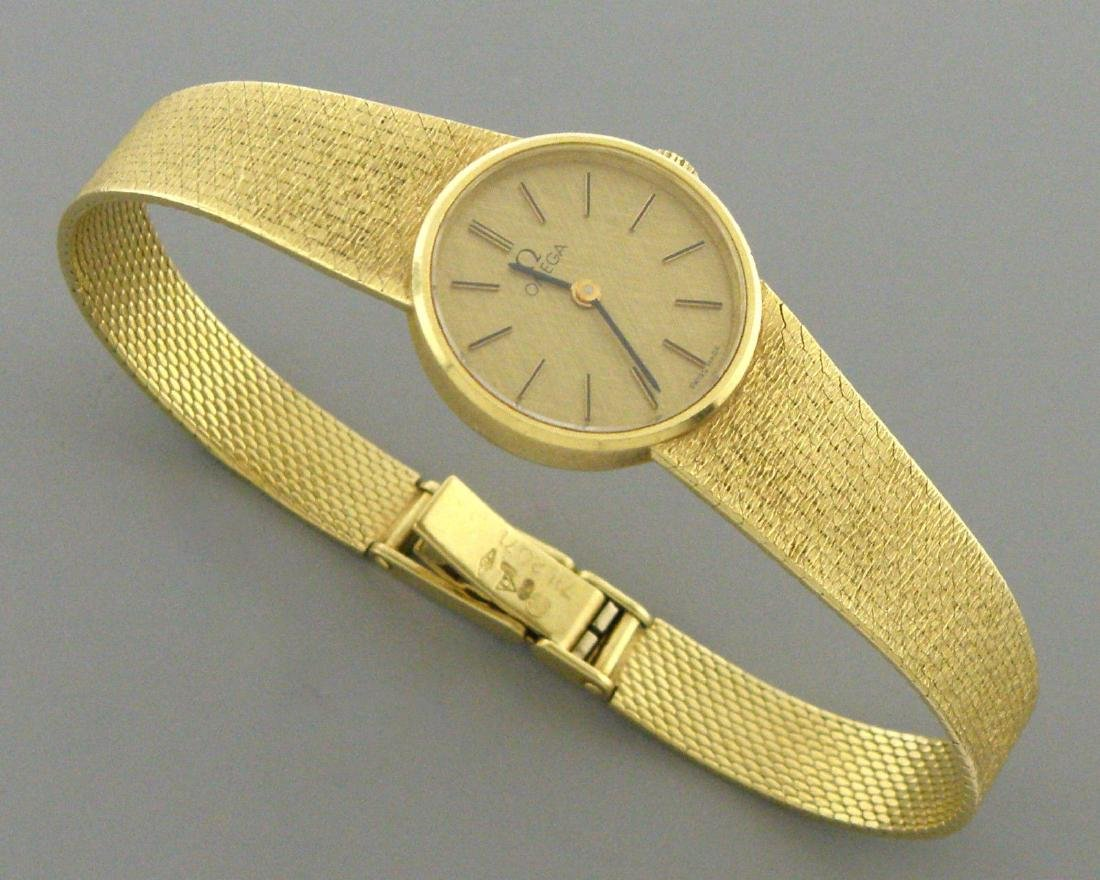 VINTAGE OMEGA 18K YELLOW GOLD LADIES WATCH WIND 32.9G