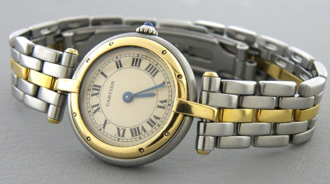 CARTIER PANTHERE 18K GOLD STAINLESS STEEL LADIES WATCH