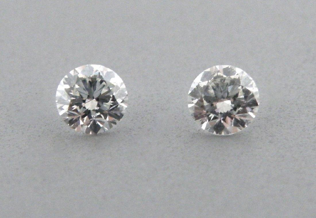 4.1mm MATCHING PAIR BRILLIANT ROUND DIAMOND G VS2