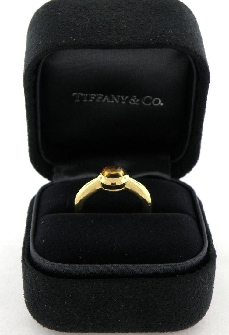 TIFFANY & Co. 18K YELLOW GOLD CITRINE ENGAGEMENT RING