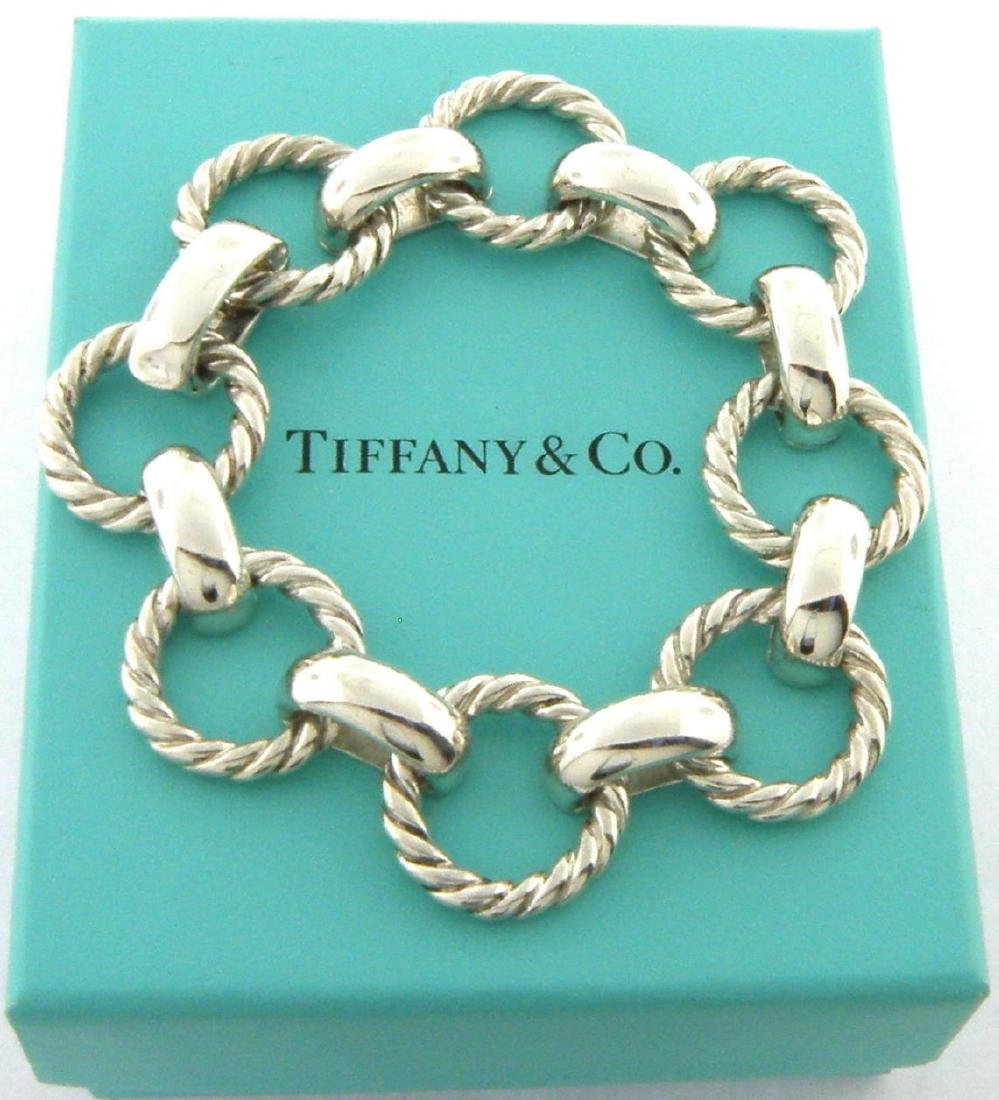 TIFFANY & Co. STERLING SILVER TWIST ROPE BRACELET