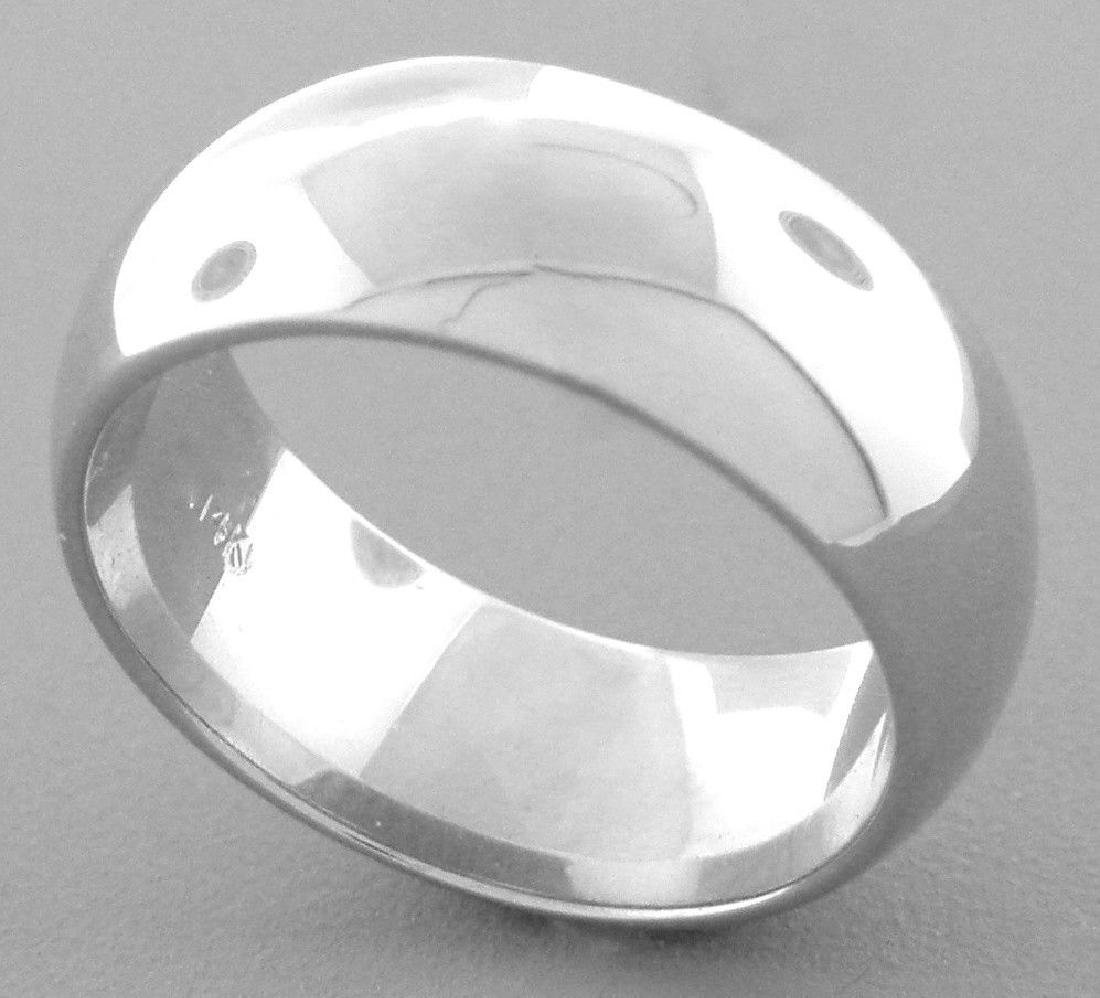 14K WHITE SOLID GOLD 7MM COMFORT BAND WEDDING RING 9