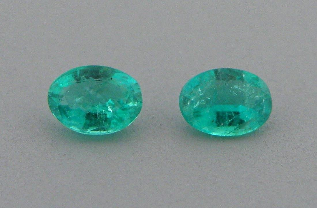 5x3mm MATCHING PAIR OVAL NATURAL COLOMBIAN EMERALD