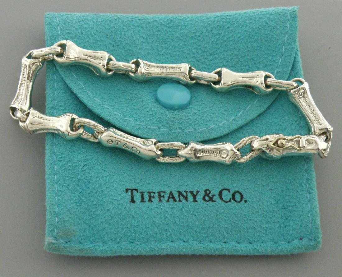 TIFFANY & Co. STERLING SILVER BAMBOO BRACELET POUCH