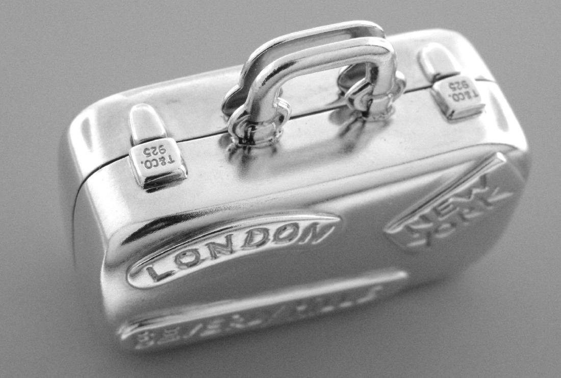 TIFFANY & Co. SILVER SUITCASE LUGGAGE BAG PILL BOX