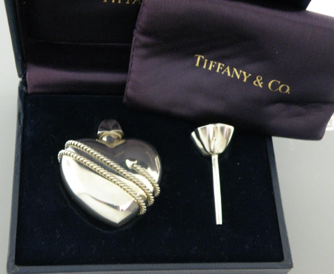 TIFFANY & Co. STERLING HEART ARROW PERFUME BOTTLE BOX