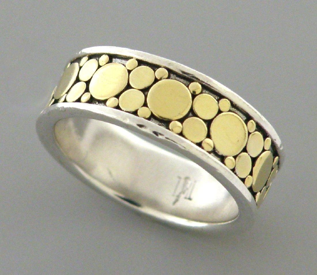 JOHN HARDY 18K GOLD STERLING SILVER FULL ETERNITY RING