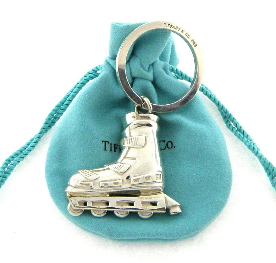 TIFFANY & Co. STERLING SILVER ROLLERBLADE KEYRING HUGE