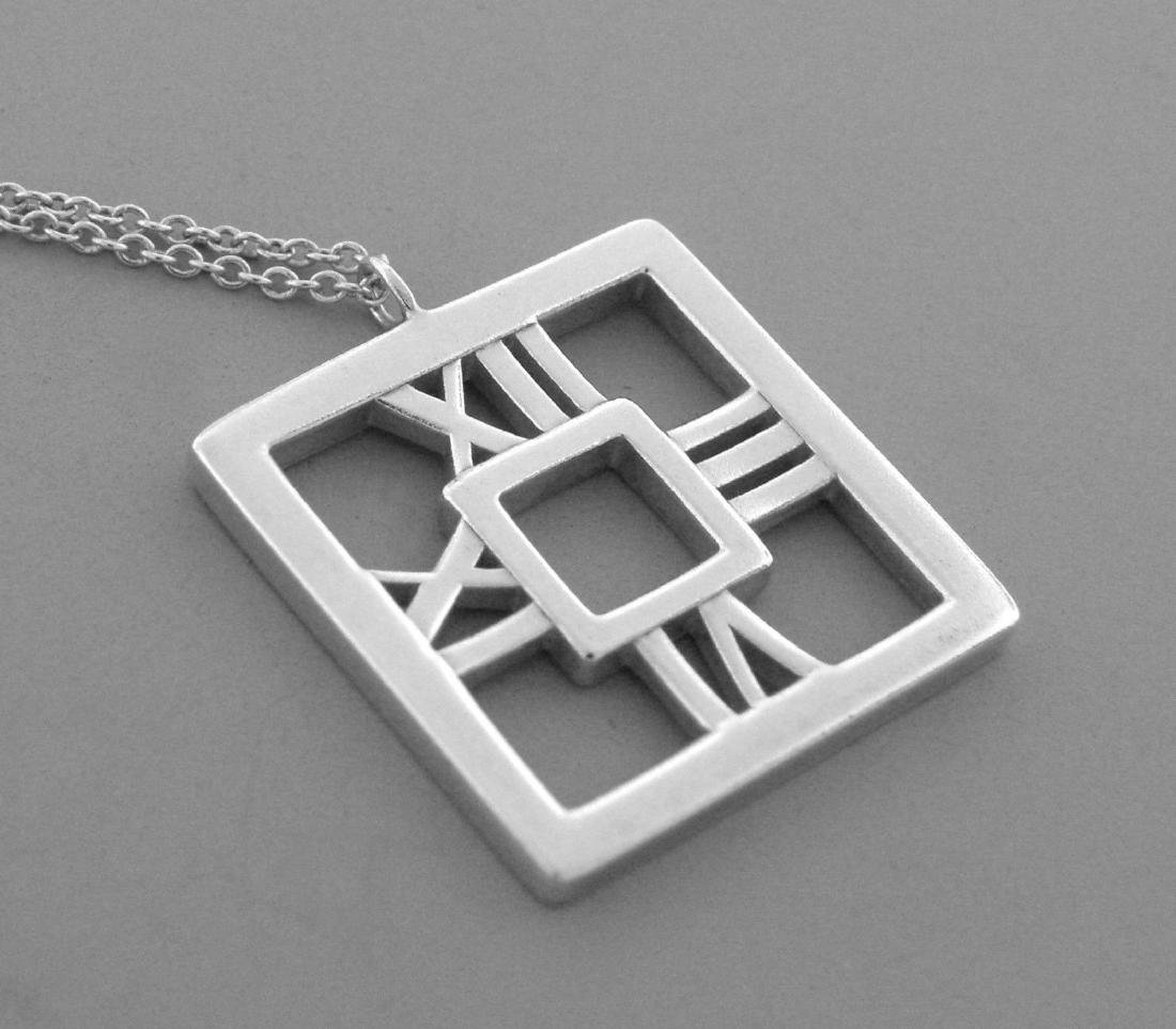 TIFFANY & Co. STERLING SILVER ATLAS SQUARE NECKLACE