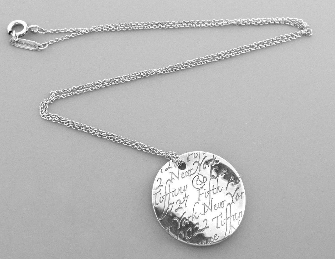 TIFFANY & Co. STERLING SILVER NOTES WAVE NECKLACE