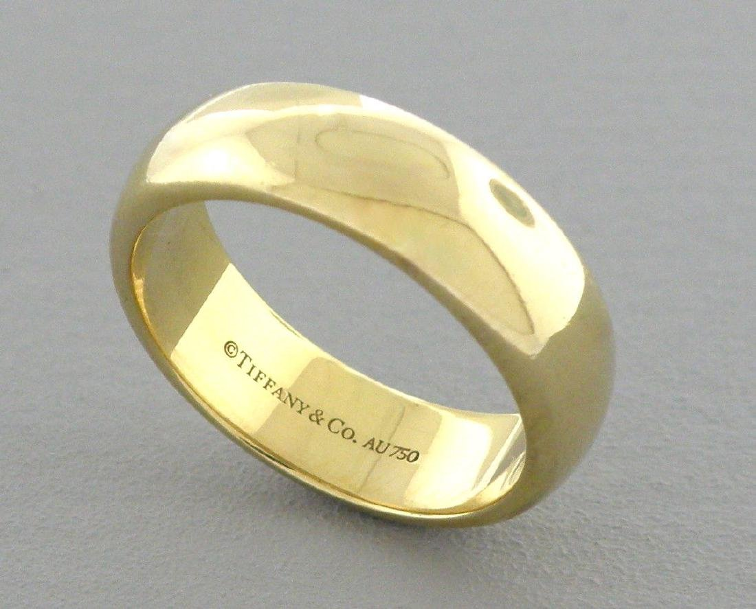TIFFANY & CO. 18K GOLD LUCIDA 6MM WEDDING BAND RING