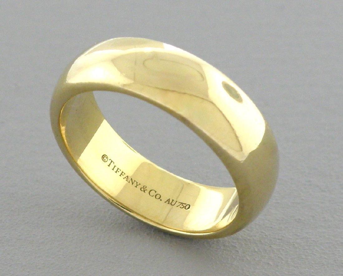 TIFFANY & CO. 18K GOLD LUCIDA 6MM WEDDING BAND RING