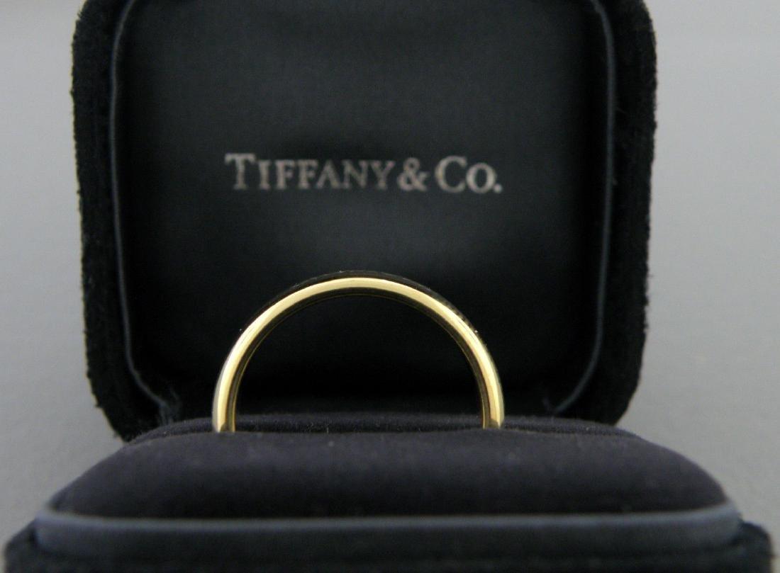 TIFFANY & CO. 18K GOLD LUCIDA 6MM WEDDING BAND RING - 2