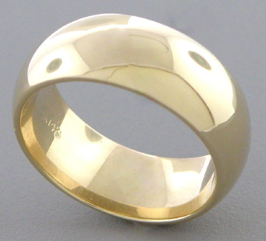 14K YELLOW SOLID GOLD 7MM COMFORT BAND WEDDING RING 8