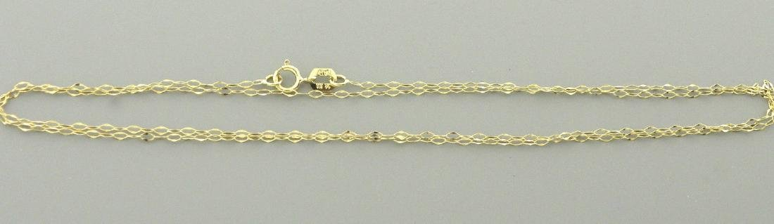 """NEW 14K YELLOW GOLD CABLE CHAIN, 18"""" NECKLACE ITALY - 2"""