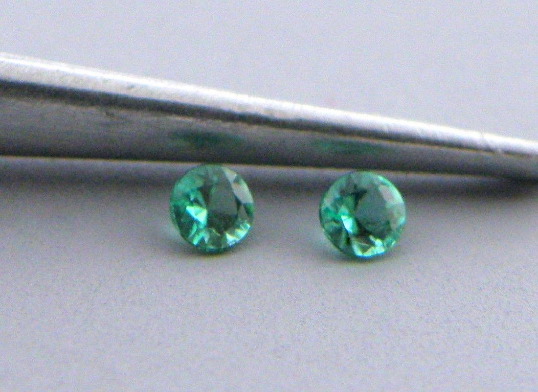 3.5mm MATCHING PAIR ROUND COLOMBIAN EMERALD NATURAL