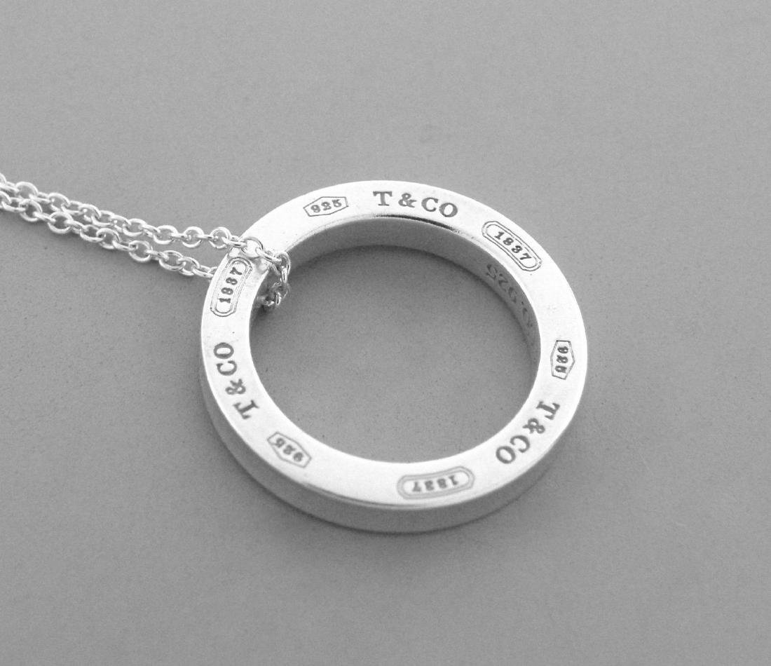 TIFFANY & Co. STERLING SILVER 1837 CIRCLE NECKLACE - 2