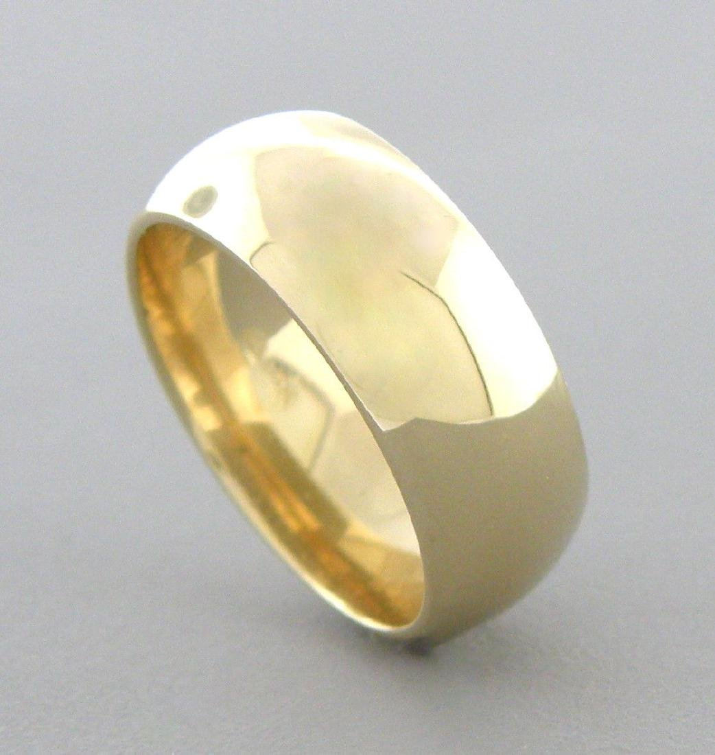 14K YELLOW SOLID GOLD 7MM COMFORT BAND WEDDING RING 9