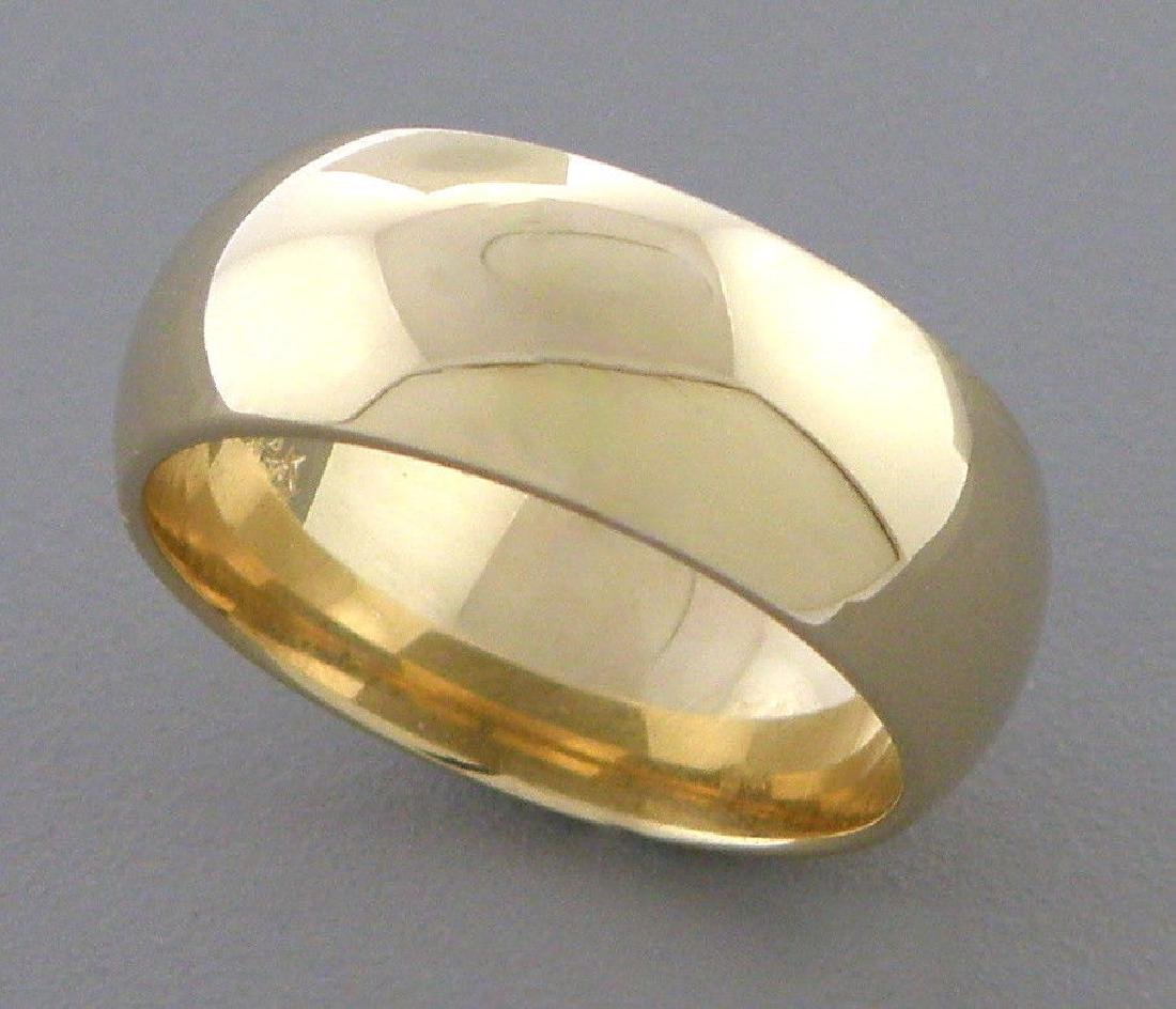 14K YELLOW SOLID GOLD 7MM COMFORT BAND WEDDING RING 6