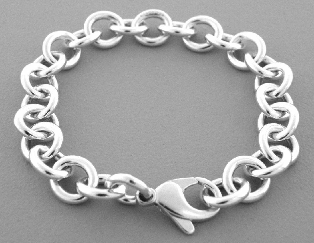 TIFFANY & Co. STERLING SILVER CHARM LINK BRACELET