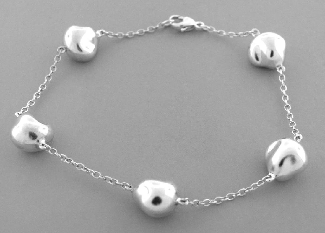 TIFFANY & Co. STERLING SILVER BEAN NUGGET BRACELET