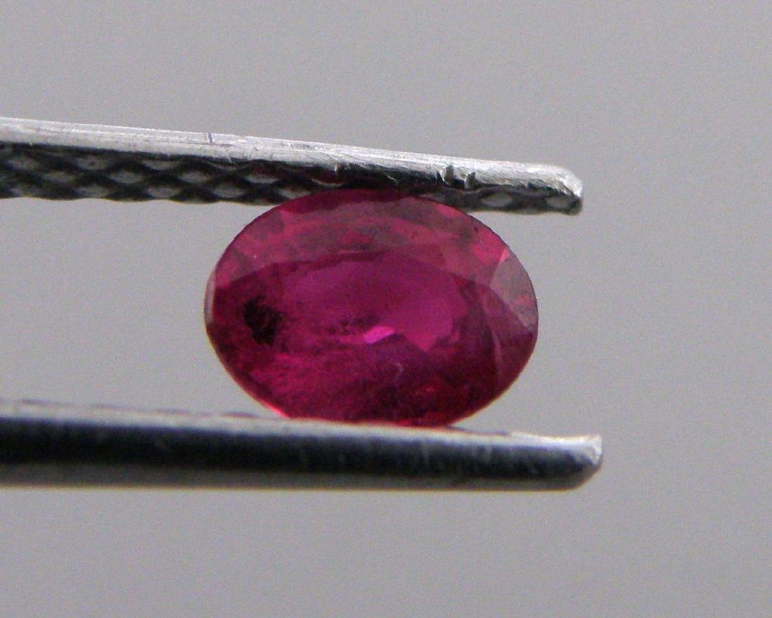 6x4mm OVAL CUT LOOSE NATURAL PIGEON BLOOD RED RUBY
